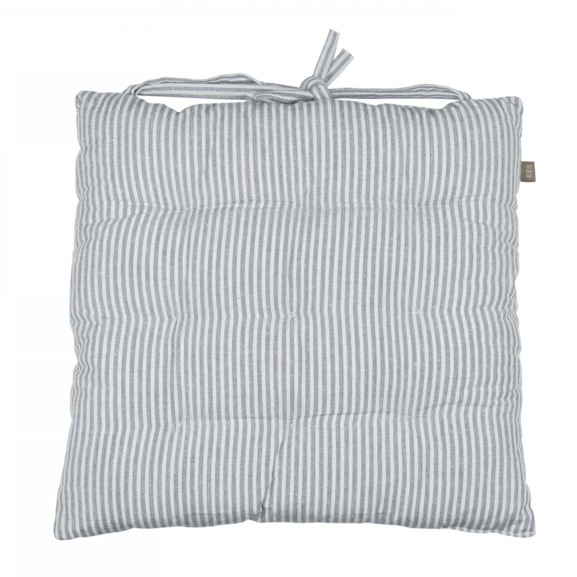 ABBEY STRIPE SEAT PAD/CUSHION - PRUSSIA BLUE