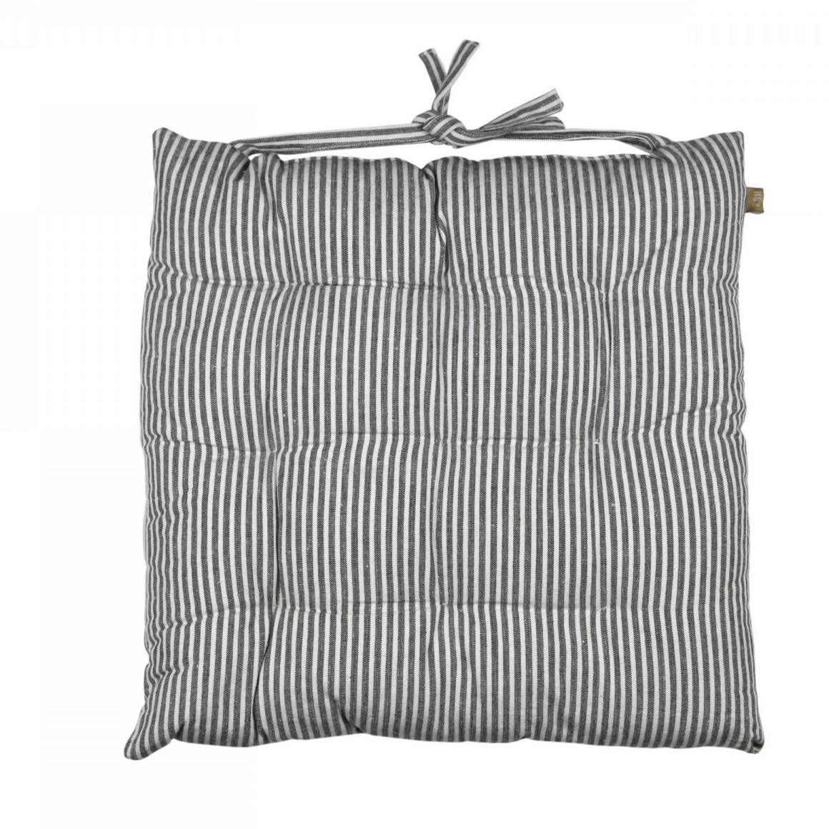 ABBEY STRIPE SEAT PAD/CUSHION - CHARCOAL