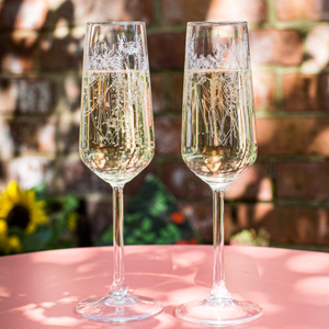 FLORAL CHAMPAGNE FLUTE