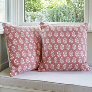JAIPUR ACORN CORAL CUSHION