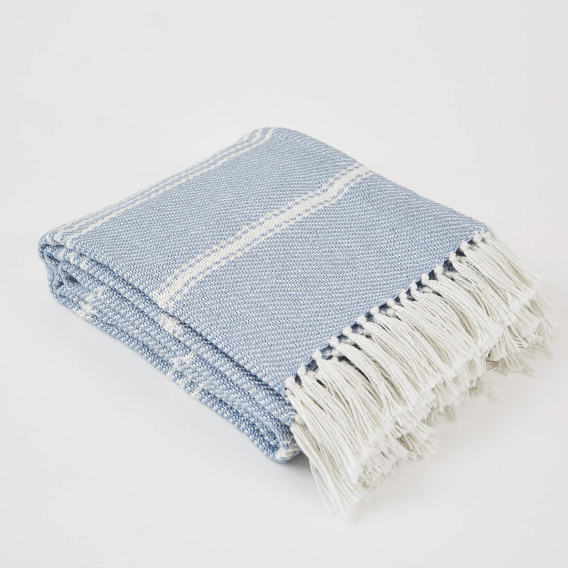 OXFORD STRIPE LAVENDER BLANKET