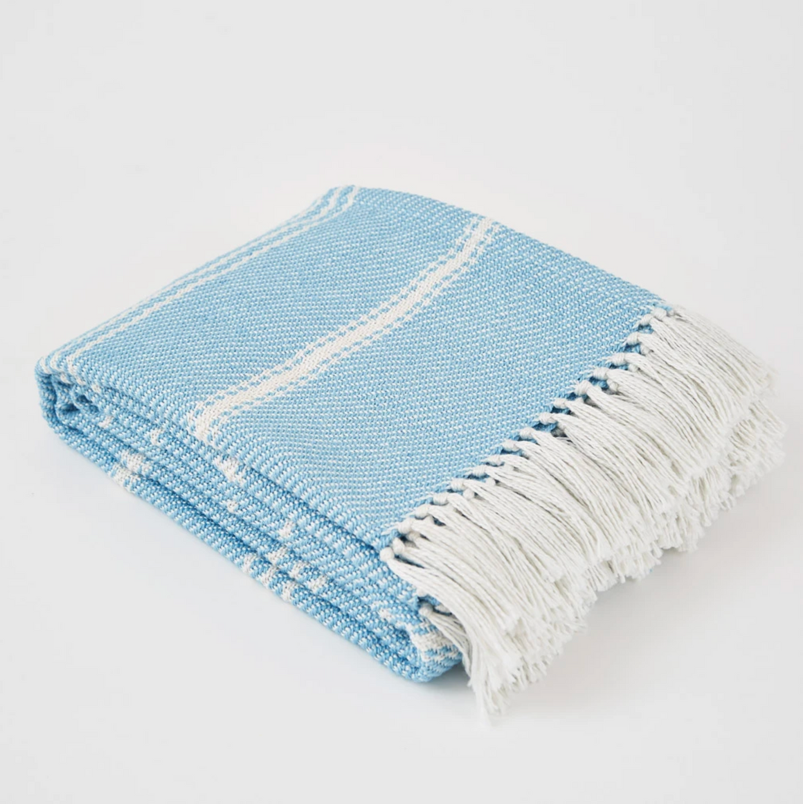 OXFORD STRIPE AZURE BLANKET
