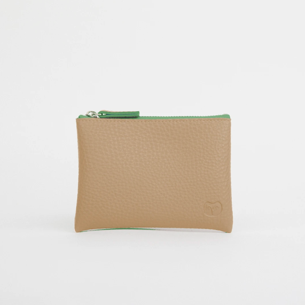 TAWNY COIN PURSE - SANDY BEIGE