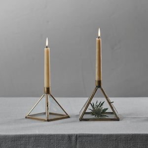 BEQUAI PYRAMID CANDLE HOLDER - SMALL