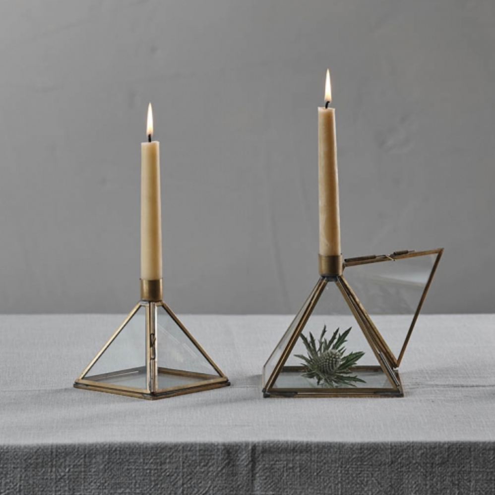 BEQUAI PYRAMID CANDLE HOLDER - LARGE
