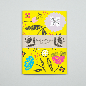 A5 NOTEBOOK FLORAL YELLOW