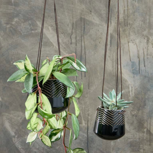 KAVARI CERAMIC HANGING PLANTER - SMALL