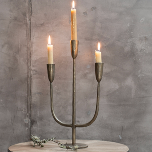 MBATA BRASS CANDELABRA - ANTIQUE BRASS