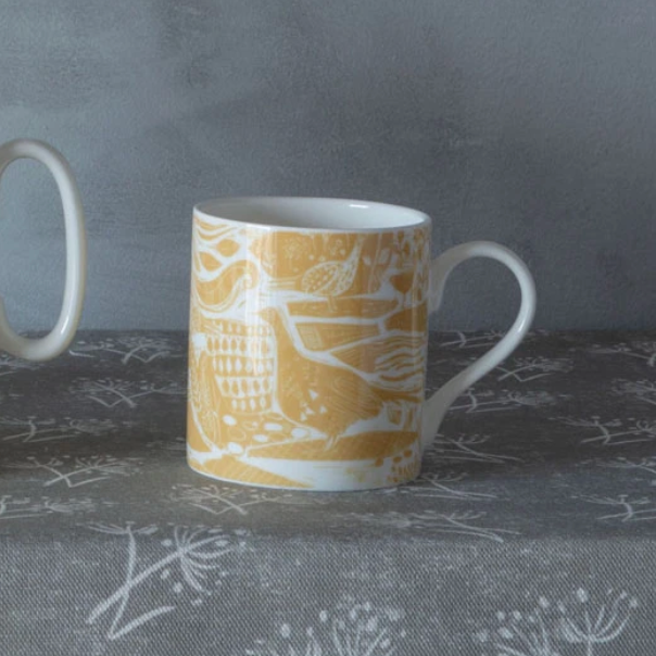 THROUGH THE FIELDS OCHRE MUG