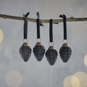 HARINI BAUBLES - ANTIQUE BLACK - SET OF 4