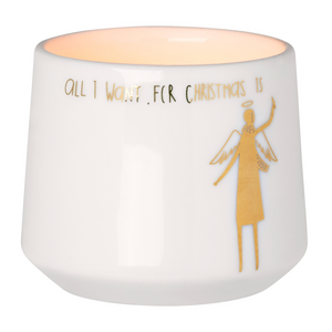 WINTER CANDLE HOLDER - ALL I WANT - SMALL