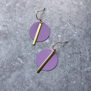 SOLAR EARRINGS - LILAC