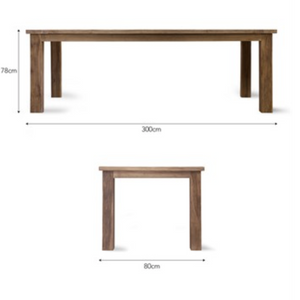 ST MAWES REFECTORY TABLE - TEAK