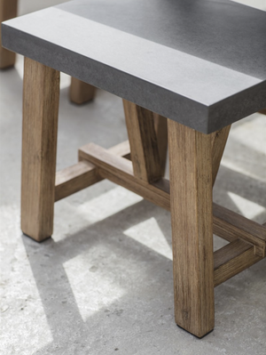CHILSON TABLE AND BENCH SET - LARGE - CEMENT FIBRE