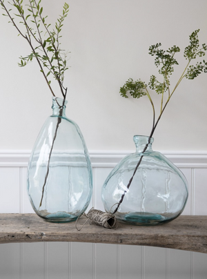 WELLS BUBBLE VASE - TALL - RECYCLED GLASS