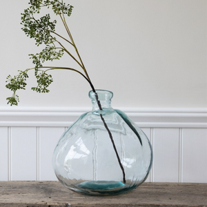 WELLS BUBBLE VASE - WIDE - RECYCLED GLASS