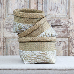 METABI BASKETS (SET OF 3) - GOLD