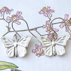 BUTTERFLY EARINGS - SILVER