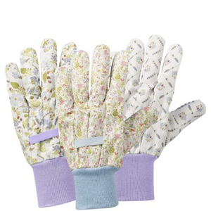 LAVENDER GARDEN - GARDEN GLOVES TRIPLE PACK