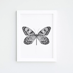 HAND PRINTED BUTTERFLY PRINT
