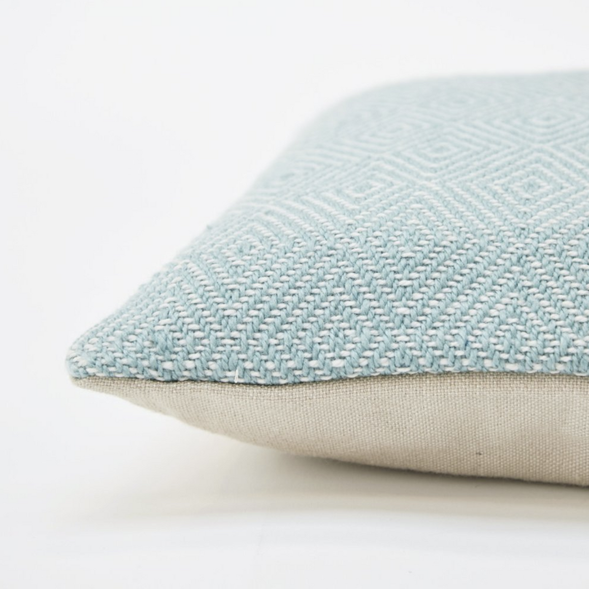 TEAL DIAMOND CUSHION