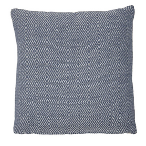 NAVY DIAMOND CUSHION