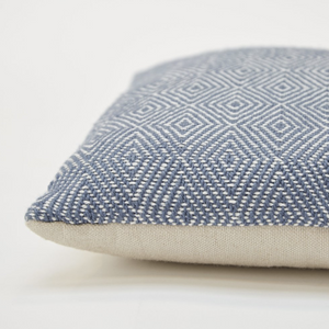 LIGHTWEIGHT DIAMOND NAVY CUSHION