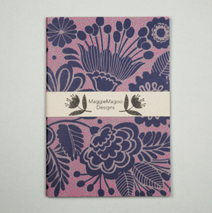 A5 NOTEBOOK NAVY DAMASK