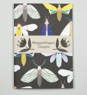 A5 NOTEBOOK DARK MOTHS