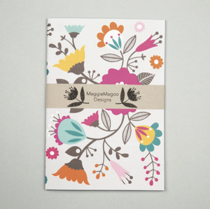 A5 NOTEBOOK RETRO FLORAL