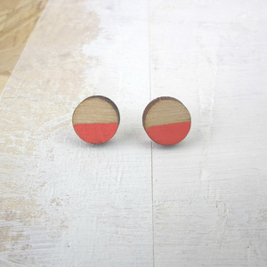 CIRCLE CORAL - EARRINGS