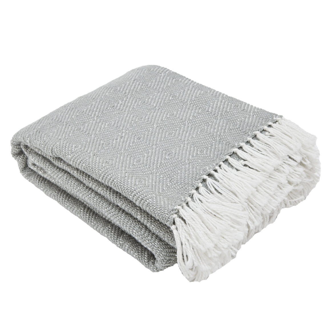 DOVE GREY ECO-FRIENDLY BLANKET