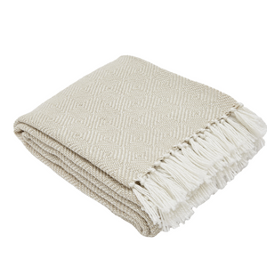 LINEN - WHITE ECO-FRIENDLY BLANKET