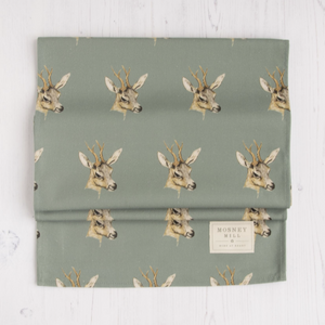 DEER TABLE RUNNER - TEAL