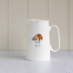 ROBIN CHINA JUG - LARGE