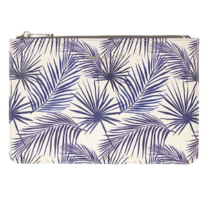 BLUE PALM DESIGNER VEGAN CLUTCH BAG