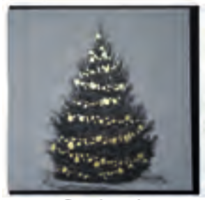 FOILED GOLD CHRISTMAS TREE SQ CARD