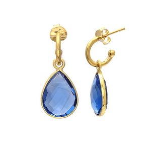 SHYLA WATER DROP EARRINGS - TOPAZ