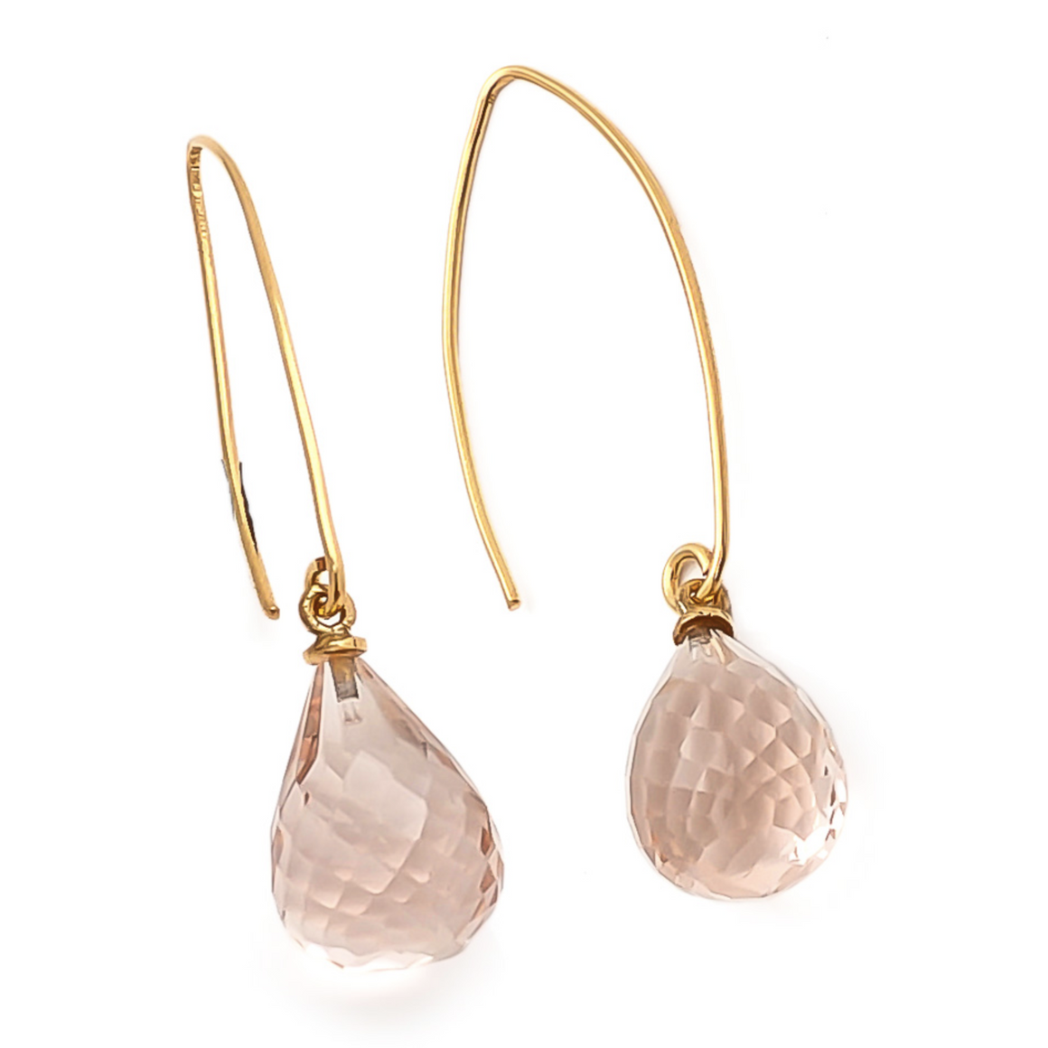 SHYLA ARABELLA EARRINGS - PINK QUARTZ