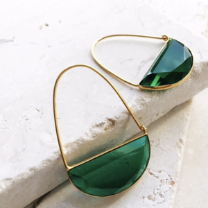 MACKE EARRINGS - EMERALD GREEN