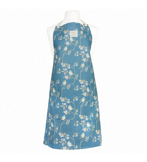 BLUE TIT ON BLOSSOM - APRON (NAVY BLUE)