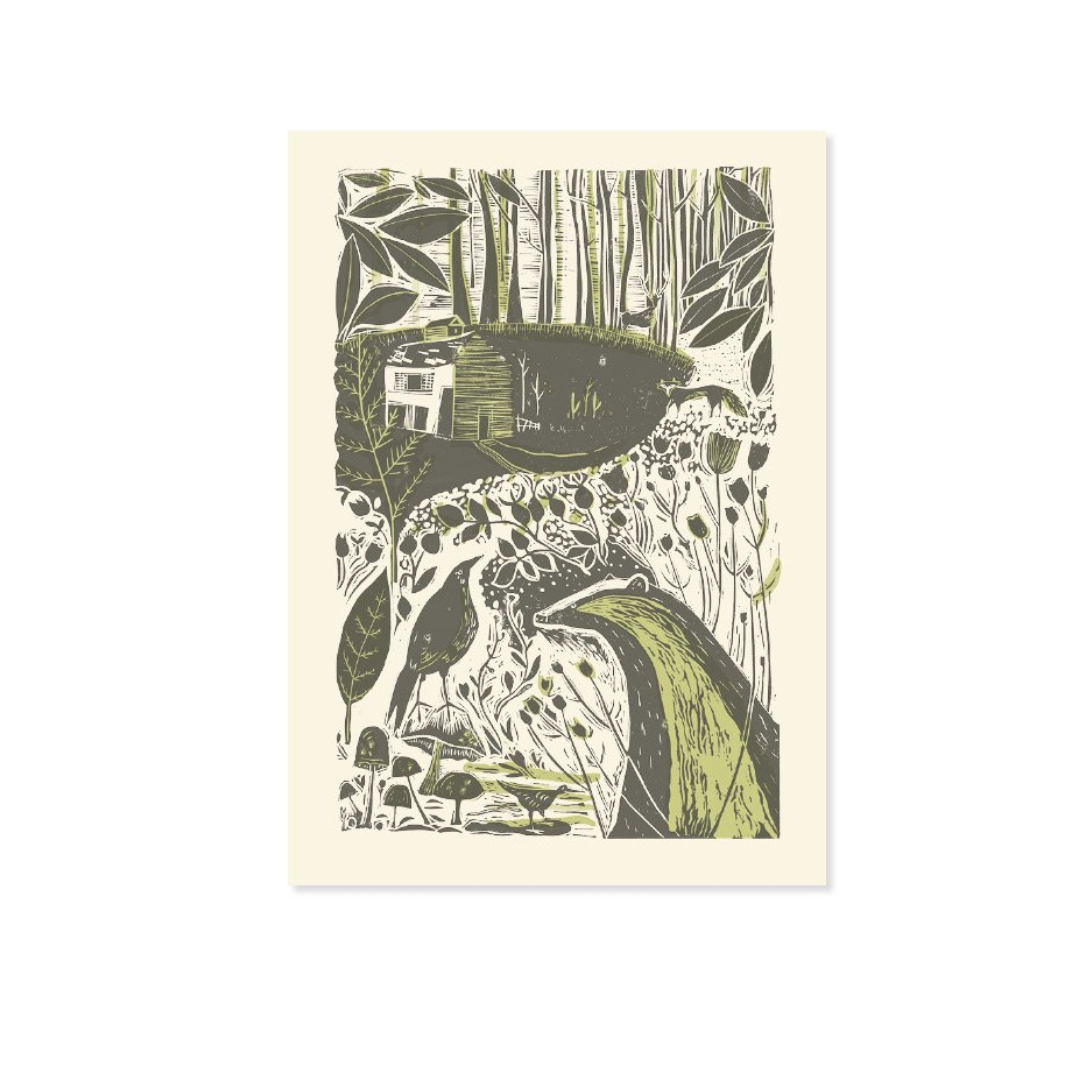 BADGER & CROW LINCUT - GREETING CARD