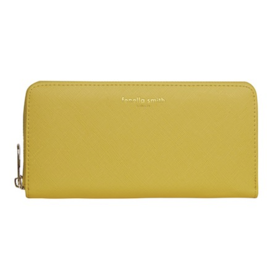 YELLOW DESIGNER VEGAN LEATHER PURSE