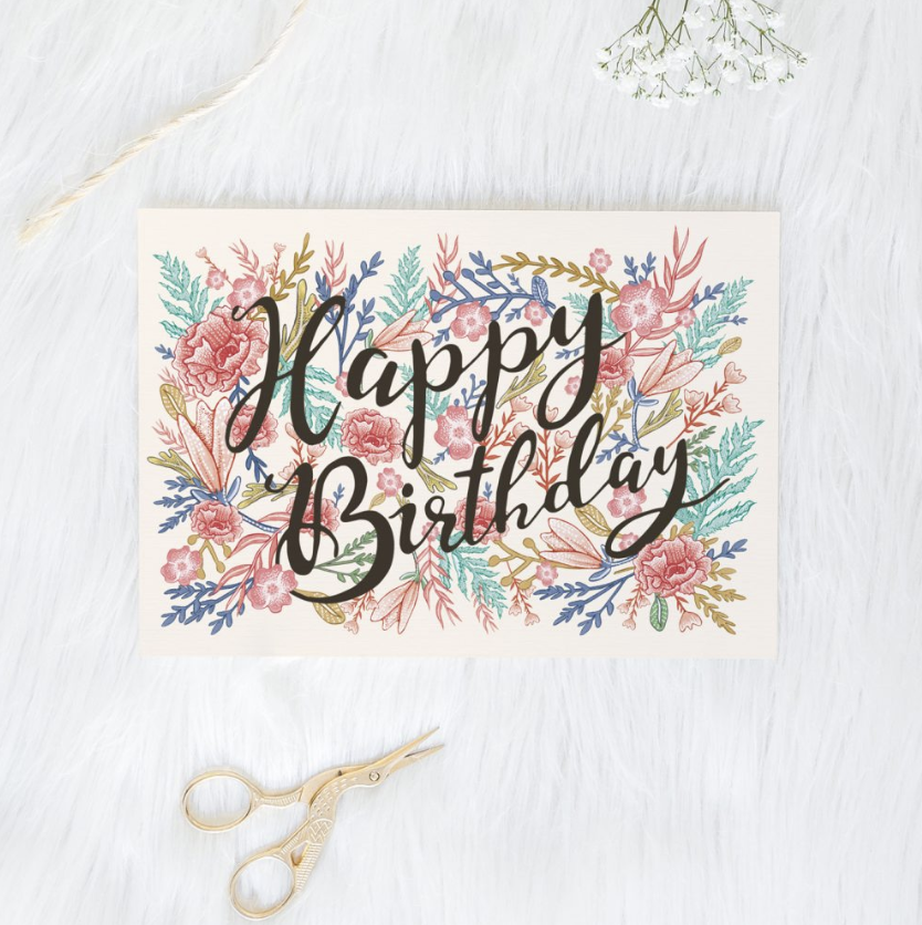 HAPPY BIRTHDAY PEONY CARD