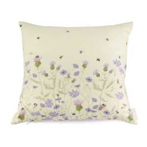 BEE & FLOWER CUSHION - DUCK DOWN FEATHER