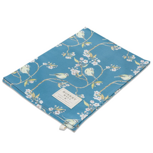 BLUE TIT ON BLOSSOM - TEA TOWEL (Denham Blue)