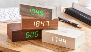 FLIP CLICK CLOCK - WHITE MAPLE