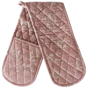 OLIVE GROVE DOUBLE OVEN GLOVE - MUSHROOM PINK