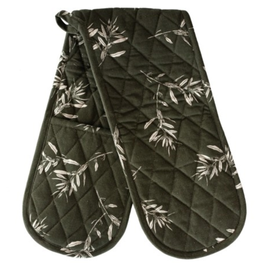 OLIVE GROVE DOUBLE OVEN GLOVE - OLIVE GREEN