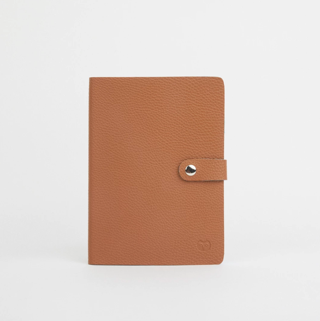 NICOBAR NOTEBOOK - TAN/LIGHT BLUE